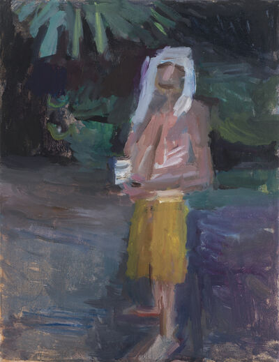 Janice Nowinski, 'Man Drinking in the Woods'