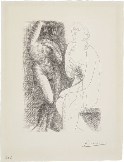 Pablo Picasso, 'Femme nue devant une statue (Naked Woman in Front of a Statue)', 1931