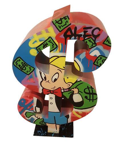 Alec Monopoly, 'Dollar Richie with money bag', 2017