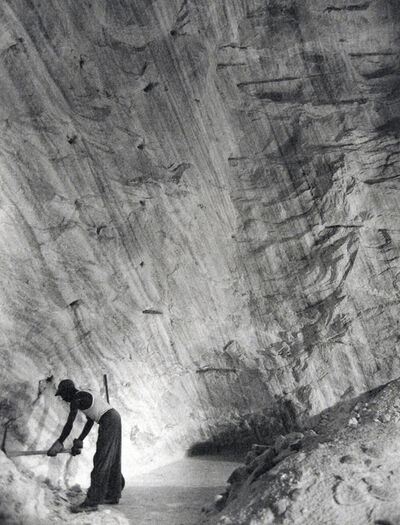 Harold Haliday Costain, 'Clearing the Path Along the Base of the Cliff, The Great Avery Island Salt Mine', 1934