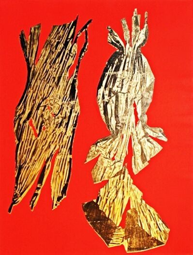 Lynda Benglis, 'DUAL NATURES (Framed with label from AIDS Project Los Angeles)', 1990