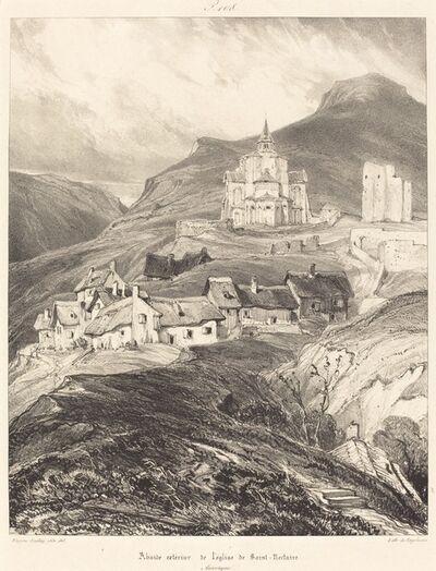 Eugène Isabey, 'Abside de l'église de Saint-Nectaire', 1831