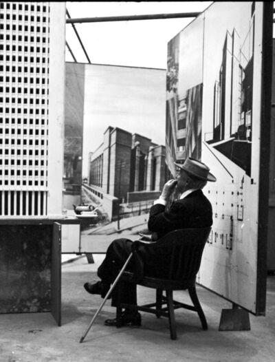 Pedro E. Guerrero, 'Frank Lloyd Wright, Tea Break, Guggenheim Pavilion, New York, NY', 1953