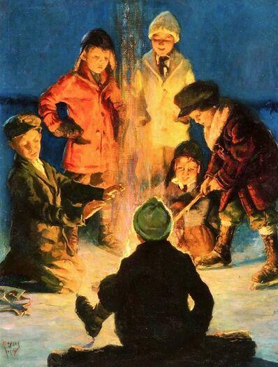 Eugene Iverd, 'Boys Around a Campfire, Post Cover ', 1931