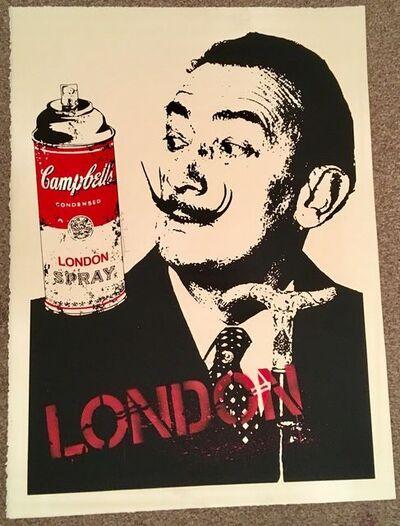 Mr. Brainwash, 'MR BRAINWASH LONDON- SALVADOR DALI SIGNED PRINT', 2009