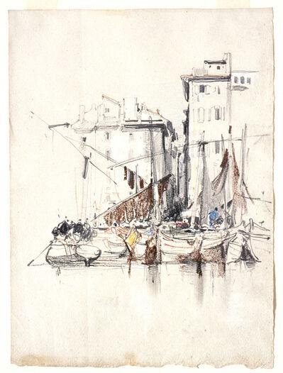 Eugène Isabey, 'By the Sea—Fishermen's Village', ca. 1826