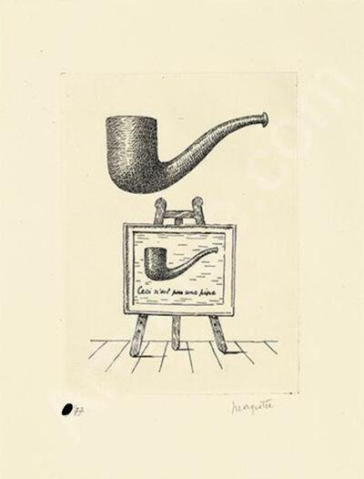 René Magritte, 'Ceci n'est pas une pipe (Les Deux Mystères) ', 1966