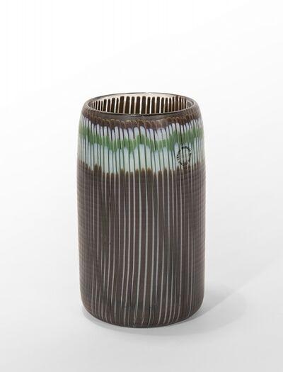 Toni Zuccheri, 'A vertical pipe vase beaten surface', circa 1980