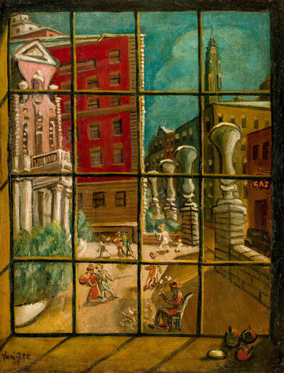 Yun Gee, 'New York Courtyard', 1951