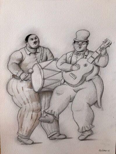 Fernando Botero, 'Musicians In The Carnaval', 2016