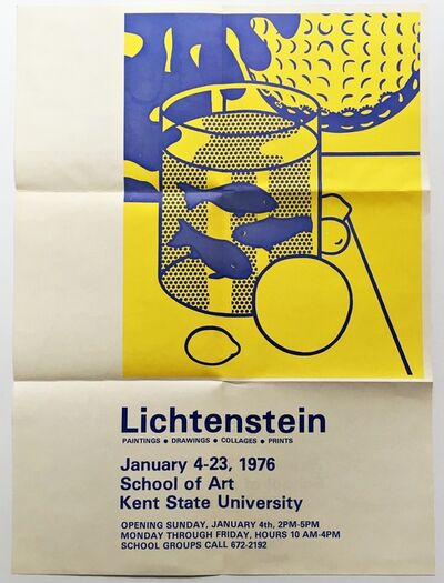 Roy Lichtenstein, 'Paintings Drawings Collages Prints at Kent State University', 1976