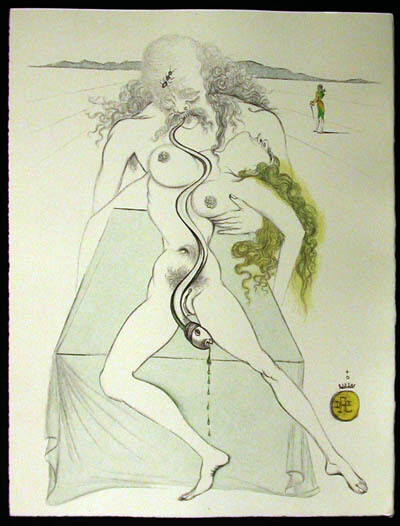 Salvador Dalí, 'Casanova - Nude Couple, Large Serpent', 1967
