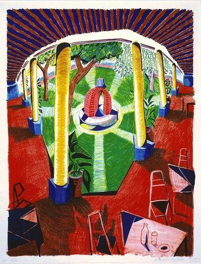 David Hockney, 'View of Hotel Well lll', 1985