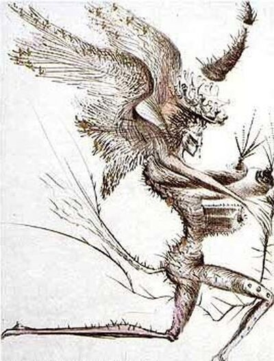 Salvador Dalí, 'Venus in Furs Suite: Winged Demon', 1969