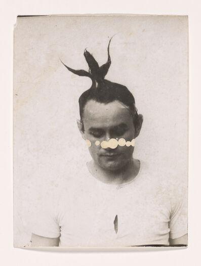 Johannes Brus, 'Selbst mit Haarplastik (Self with Hair Sculpture)', 1971