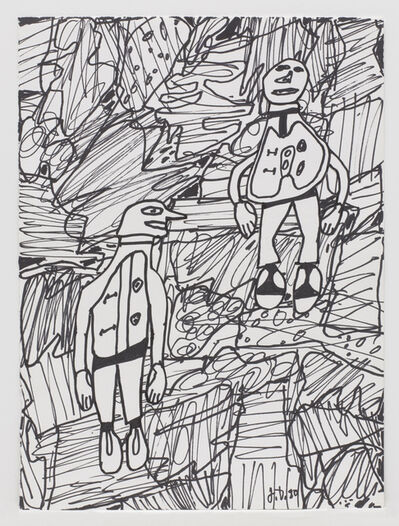 Jean Dubuffet, 'Paysage avec 2 personnages', May 8-1980