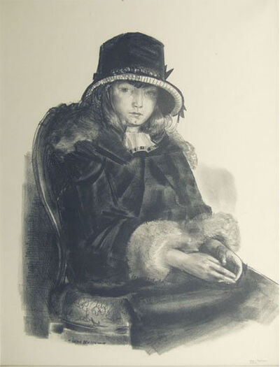 George Wesley Bellows, 'Anne in a Black Hat', 1923-1924