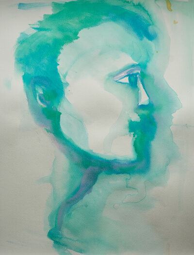 Alexandra Bregman, 'Man's Face in Blue', 2018