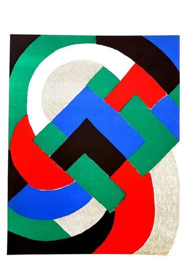"Sonia Delaunay, 'Original Lithograph ""Composition"" by Sonia Delaunay', 1969"