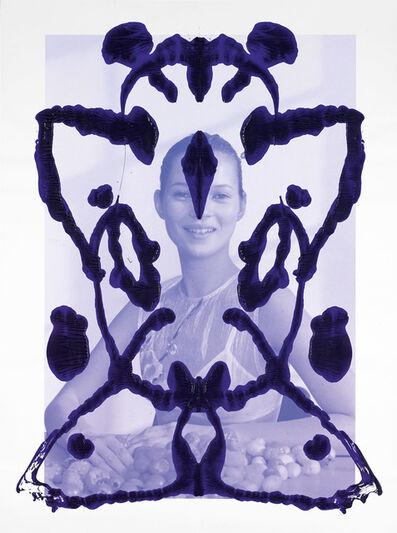 Asher Penn, 'Kate Moss Rorschach Portrait - Blue on Blue, 2013', 2013