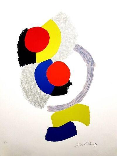 "Sonia Delaunay, 'Original Lithograph ""Composition I"" by Sonia Delaunay', Circa 1960"