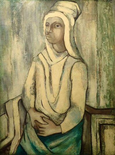 Charles Sebree, 'Woman in White Turban', ca. 1939