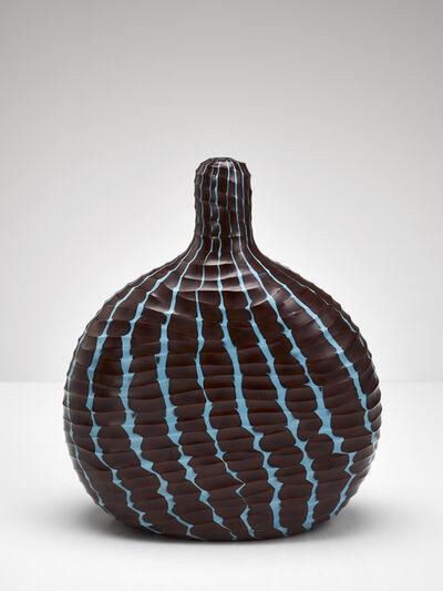 Massimo Micheluzzi, 'brown & blue carved', 2005