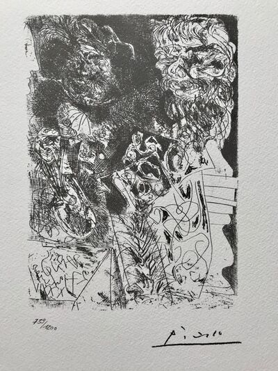 Pablo Picasso, 'Rembrandt au turban aux fourrures et à l'oeil d'éléphant (Suite Vollard Planche XXXIV)', 1973
