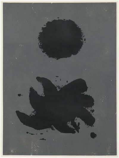 Adolph Gottlieb, 'Black & Grey', 1967