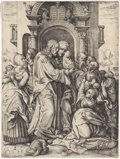 Daniel Hopfer I, 'The Virgin Mary Taking Leave of Christ', ca. 1520