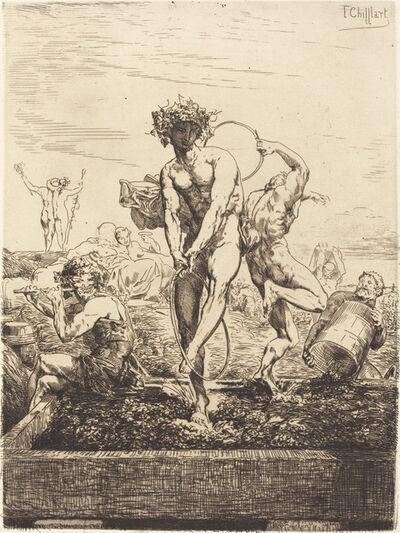François-Nicolas Chifflart, 'Grape Harvest', 1865