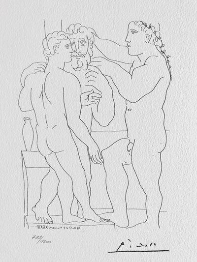 Pablo Picasso, 'Deux Hommes sculptés (Suite Vollard Planche LII)', 1973