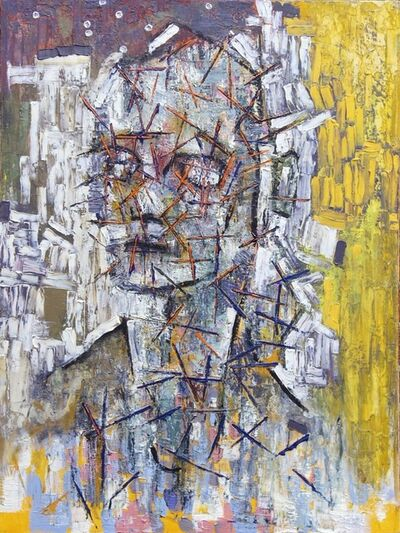 Aaron Brooks, 'Portrait with Orange Stress', 2003