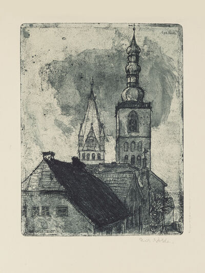 Emil Nolde, 'Petri- and Patrocli-Tower in Soest', 1906