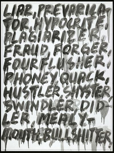 Mel Bochner, 'Liar', 2008