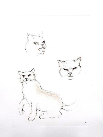Leonor Fini, 'Leonor Fini - Cats II - Original Engraving', 1985