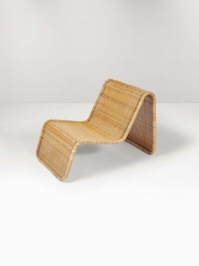 Tito Agnoli, 'A P3 chaise longue with a metal and wicker structure', 1960 ca.