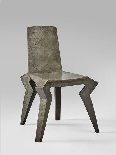 Archizoom Associati, 'Attributed to Archizoom Associati, a rare set of 6 metal chairs in folded metal', ca. 1960