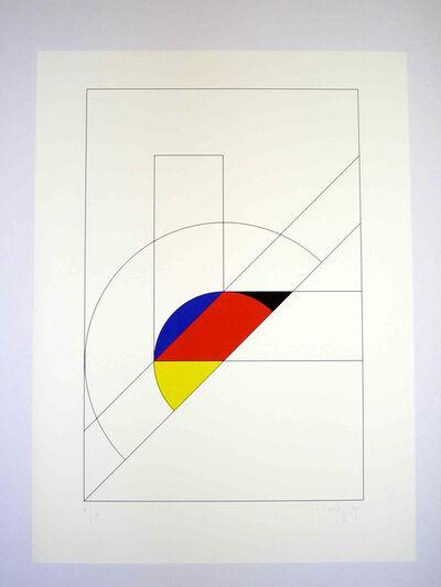 Gottfried Honegger, 'Courbe + ligne droite', 1992