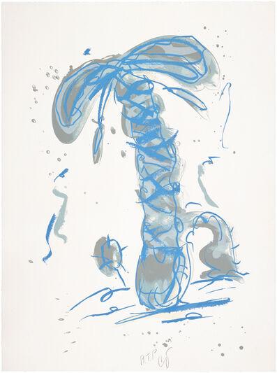 Claes Oldenburg, 'Sneaker Lace in Landscape - Blue', 1991