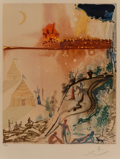 Salvador Dalí, 'The Crime, The Siege of Jerusalem, and A Miserable Flat, from The Marquis de Sade', 1969
