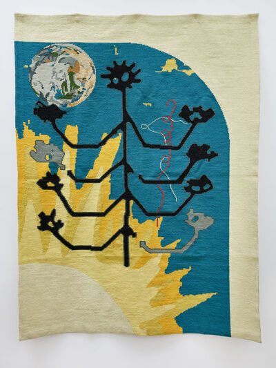 Carlos Noronha Feio, 'stick-people adore the sun (tree of life)', 2018