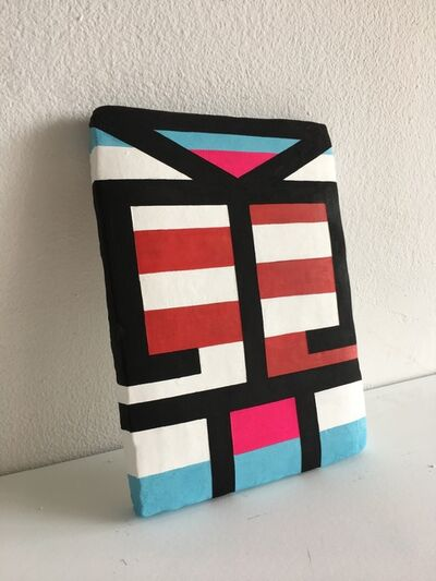 Jill Levine, 'Untitled (Red and White Striped Tablet)', 2018