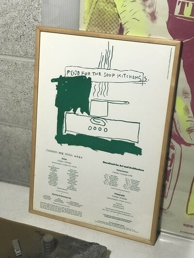 Jean-Michel Basquiat, '''Food For The Soup Kitchens'', 1983, Fashion Moda Poster, RARE', 1983