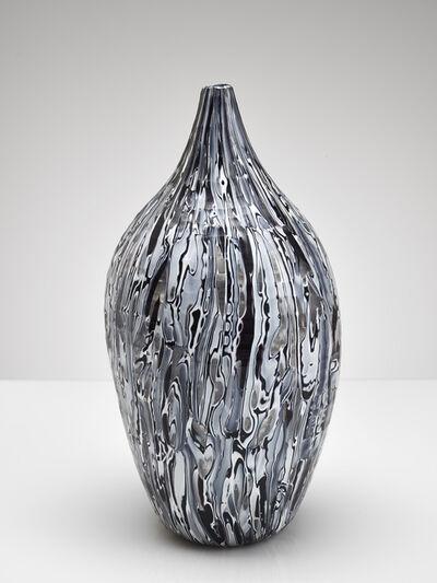 Massimo Micheluzzi, 'black and white carved', 2002