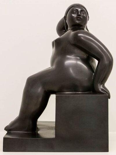 Fernando Botero, 'Mujer sentada en su cubo ', 2003
