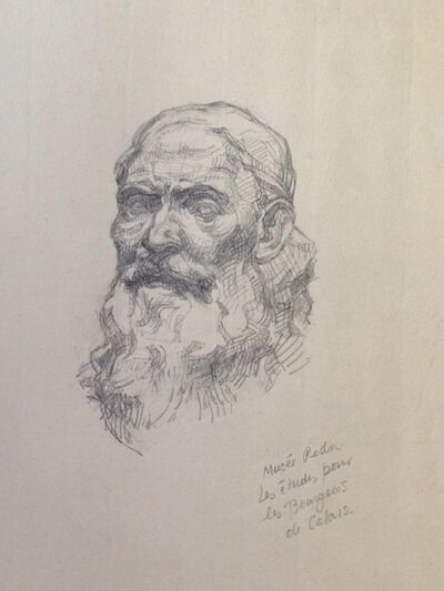 Julia Levitina, 'After Rodin's studies for the Burghers of Calais (Musee Rodin)'