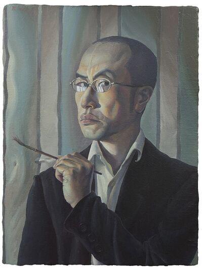 Wang 王 Yifan 一凡, 'Self-portrait, Frowning 皱眉的自画像', 2018