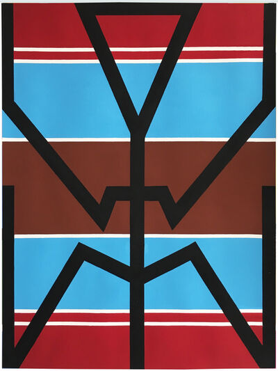 Jill Levine, 'Untitled (Blue and Brown Stripes)', 2018