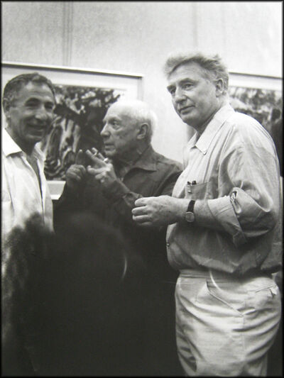 André Villers, 'Picasso with Edouard Pignon and another man', ca. 1970